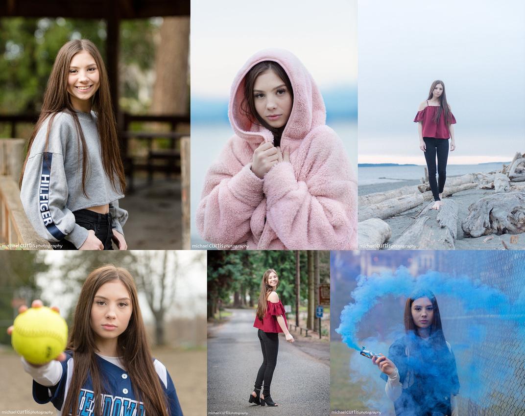 Emma Meadowdale senior photo session in Edmonds