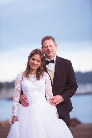 Wedding photos by Michael Curtis Photography at Golden Gardens Park in Seattle
